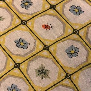 Vintage Floral and Ladybug Handkerchief/Scarf
